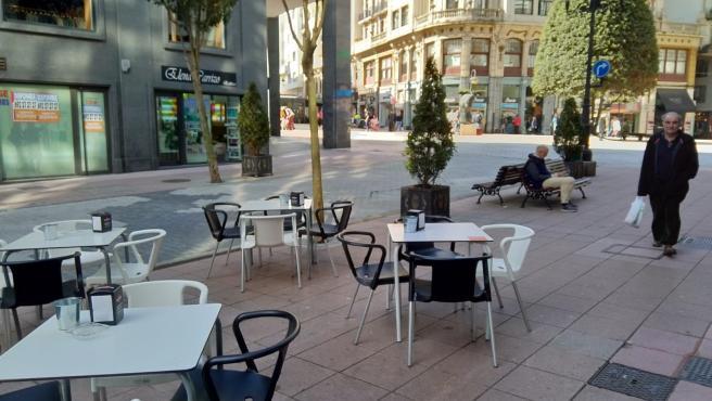 Terraza en el centro de Oviedo