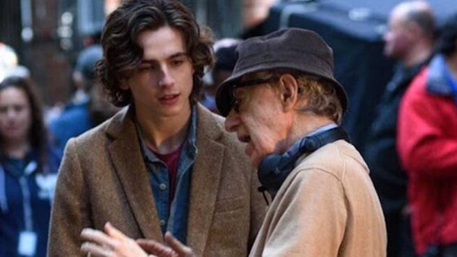 "Woody Allen: ""Timothée Chalamet renegó de mí para ganar un Oscar"""