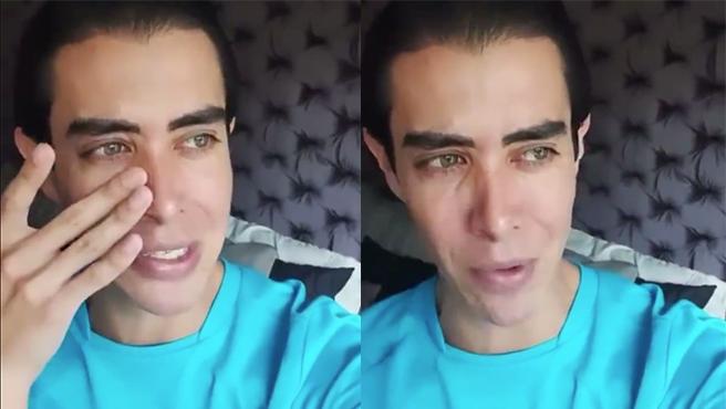 El 'influencer' mexicano Mario Sierra 'llora' por la cuarentena.