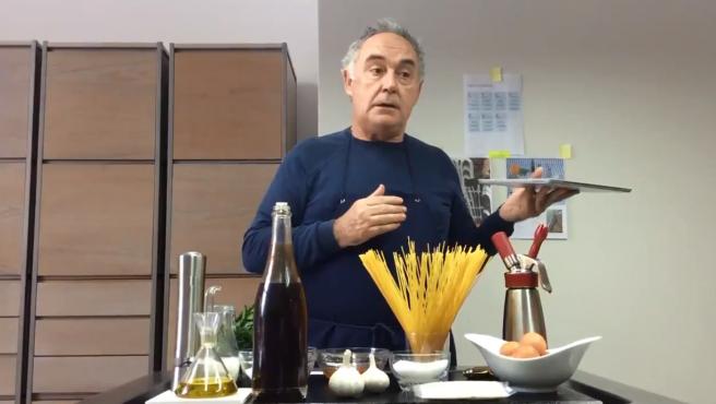 Imagen de las videorecetas de Ferran Adrià.