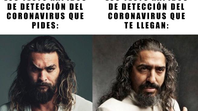 Jason Momoa y Diego el Cigala en un meme de Twitter.