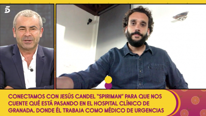 Jorge Javier Vázquez y el médico Jesús Candel discuten en 'Sálvame'.
