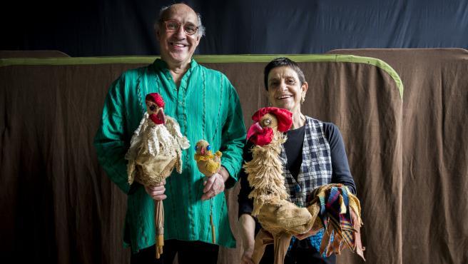 Paco Paricio y Pilar Amorós, fundadores de Los Titiriteros de Binéfar