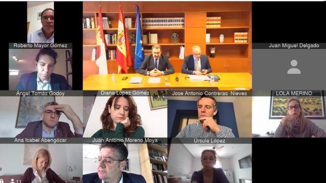 Primera sesión telemática de la historia de las Cortes de Castilla-La Mancha a causa del coronavirus