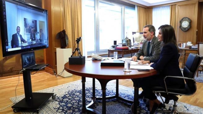 Los Reyes, en la videoconferencia con Roig.