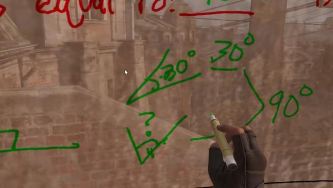Este profesor ha utilizado la pizarra y los rotuladores de una de las primeras secciones de 'Half-Life: Alyx'.