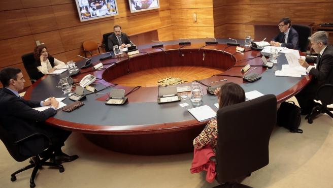 Imagen del Consejo de Ministros del viernes 27 de marzi,