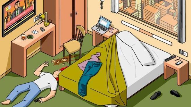 El primer crimen ilustrado de Twitter, por Modesto García.