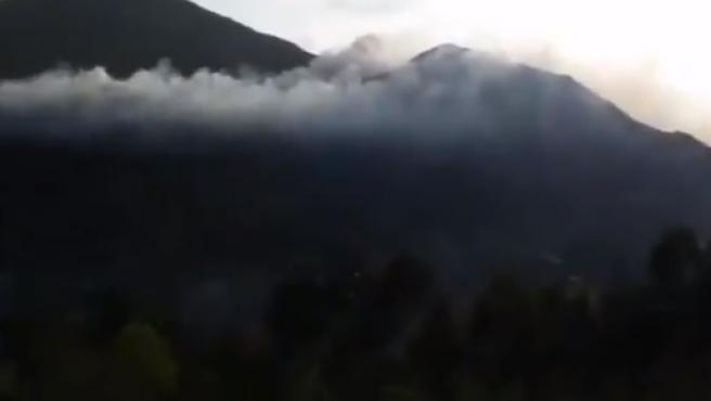 Incendio forestal en Llanes