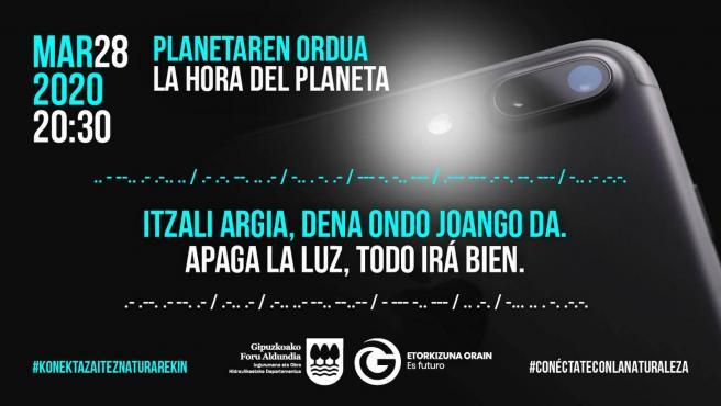 Iniciativa de la Diputación de Gipuzkoa para la 'Hora del Planeta'