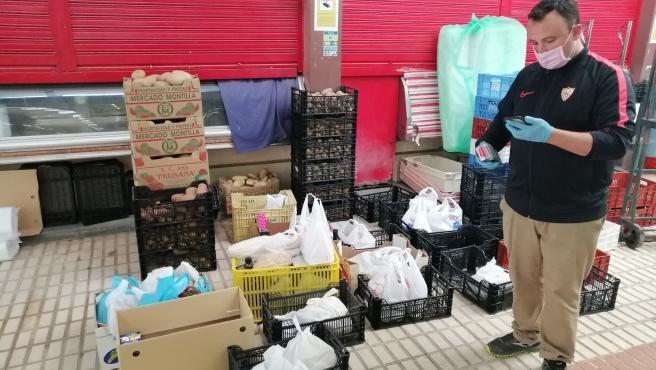 Una de las tiendas del mercado de abasto del Tiro de Línea adheridas a la iniciativa 'El mercado de Sevilla'