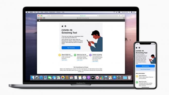 Las nuevas web www.apple.com/covid19 y app COVID-19 de Apple sobre el coronavirus.