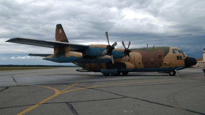 Imagen de un C-130 Hércules de la Fuerza Aérea Española.