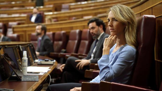 Cayetana Álvarez de Toledo durante el pleno celebrado este miércoles en el Congreso de los Diputados.