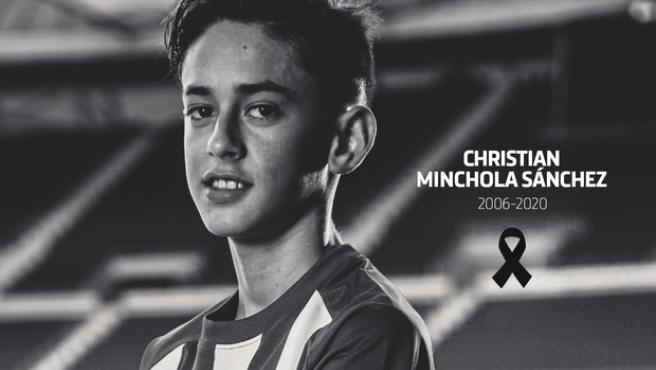 Christian Minchola, canterano del Atlético de Madrid.