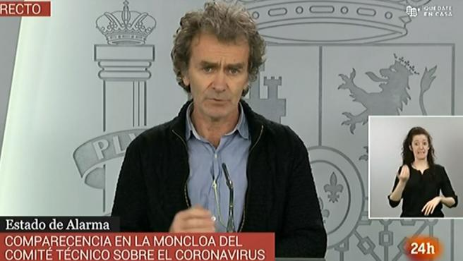 Fernando Simón, en rueda de prensa este sábado.