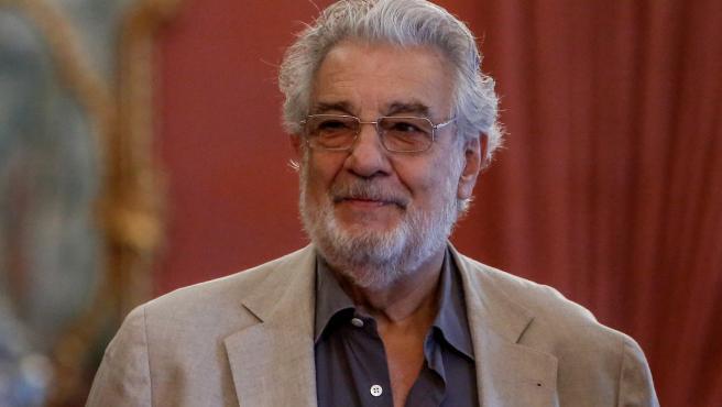 Imagen de recurso del cantante y director de ópera, Plácido Domingo.