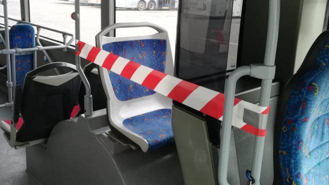Medidas de seguridad e higiene en los autobuses urbanos de Cartagena