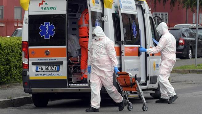 Sanitarios durante el estado de alarma por coronavirus.