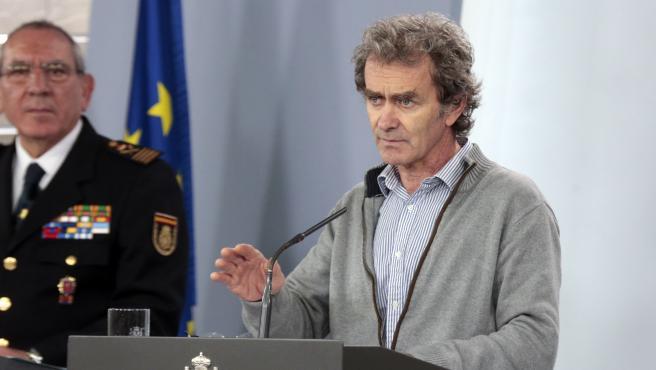 El director del Centro de Coordinación de Alertas y Emergencias Sanitarias del Ministerio, Fernando Simón.
