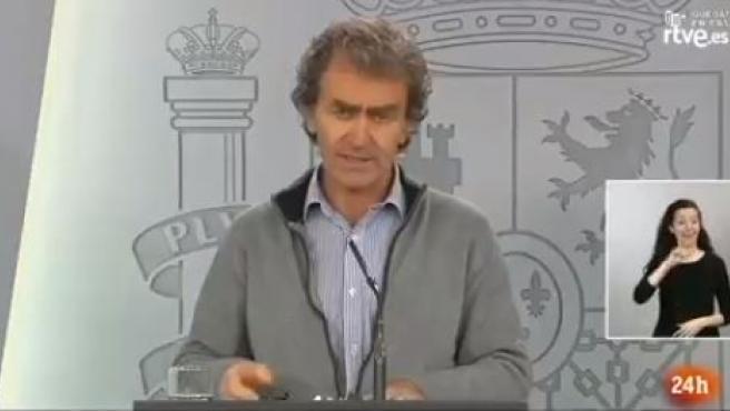 Fernando Simón, director del CCAES, este domingo en rueda de prensa.