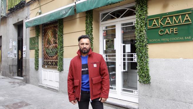 Harvy Orozco, propietario de tres locales en el centro de Madrid.