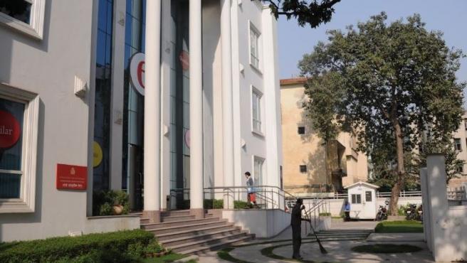 Imagen de la sede del Instituto Cervantes en Nueva Delhi, India.