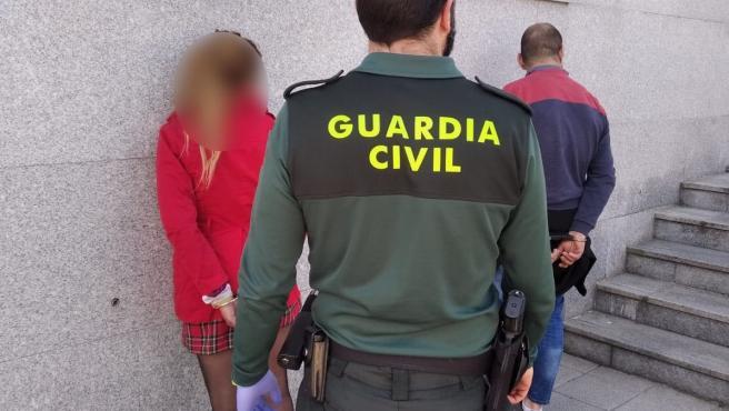 Pareja detenida en Bueu (Pontevedra) por circular con un coche robado en O Vao.
