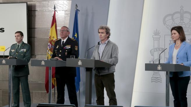 Rueda de prensa de comité técnico del coronavirus, este domingo en Madrid.
