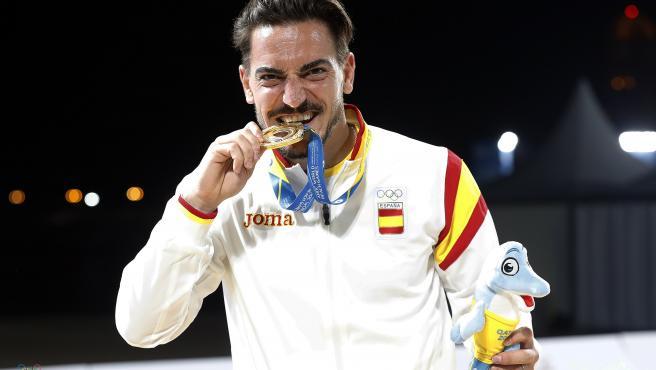 Damián Quintero, durante los Juegos Mundiales de Playa de Doha 2019