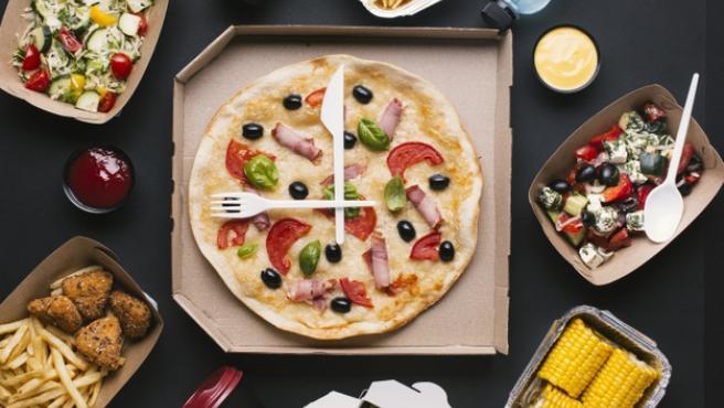 La pizza es uno de los majares más pedidos a domicilio.