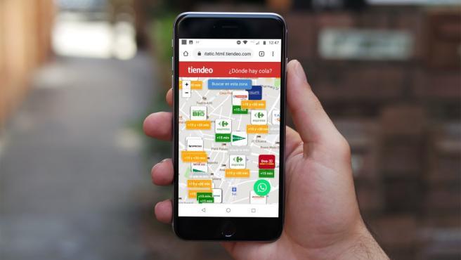 Vista de la App de Tiendeo