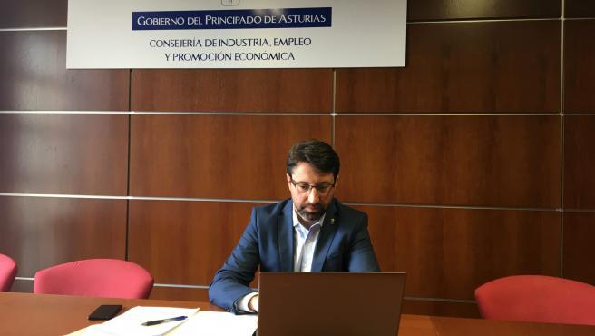 El consejero de Industria, Empleo y Promoción Económica del Principado, Enrique Fernández