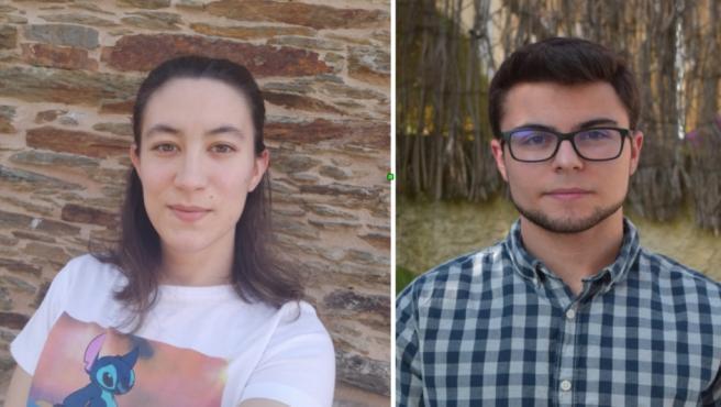 Los estudiantes de Enxeñaría Robótica en la EPS de Enxeñaría do Campus de Lugo Yasmina Vázquez Penelo y Lucas Campillo de Andrés colaboran en el proyecto Coronavirus Makers Galicia
