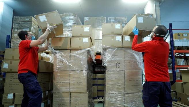 Primera llegada a la Comunitat Valenciana de material de protección procedente de China