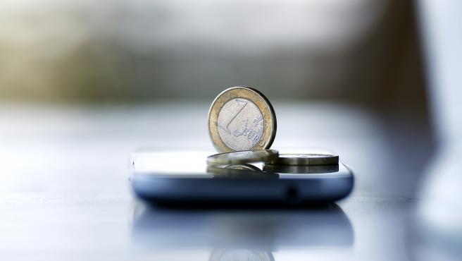 Una moneda de euro.