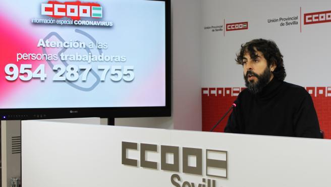 Carlos Aristu, secretario de Acción Sindical de CC.OO Sevilla