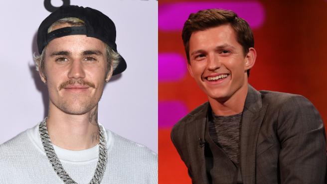 Justin Bieber y Tom Holland.