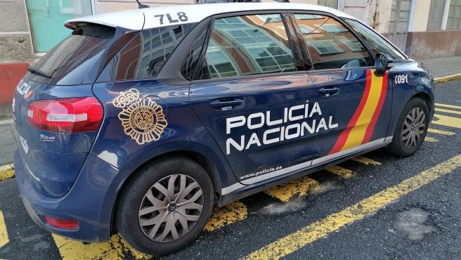 Un vehículo de la POlicía Nacional de Ferrol.
