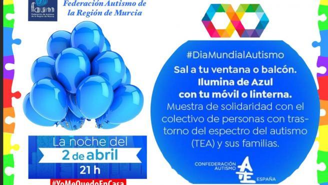 Cartel de la actividad convocada por la Federación de Autismo de la Región de Murcia