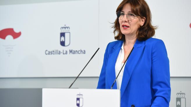 La portavoz del Gobierno de Castilla-La Mancha, Blanca Fernández