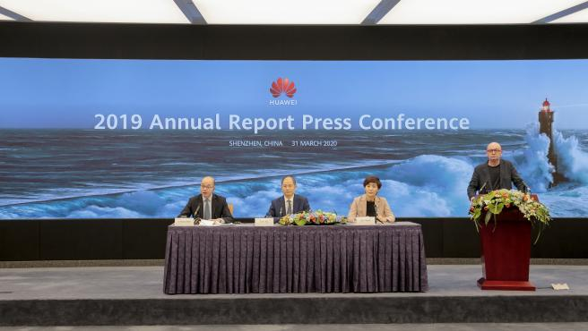 Presentación del informe anual de 2019 de Huawei