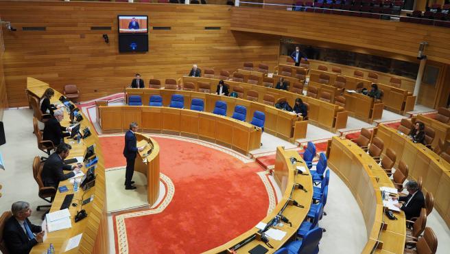 Alfonso Rueda, vicepresidente de la Xunta, en comparecencia en la Diputación Permanente