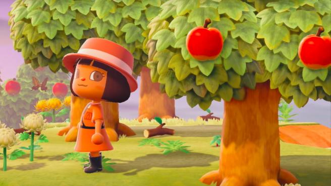 Sesión de fotos en el Animal Crossing.