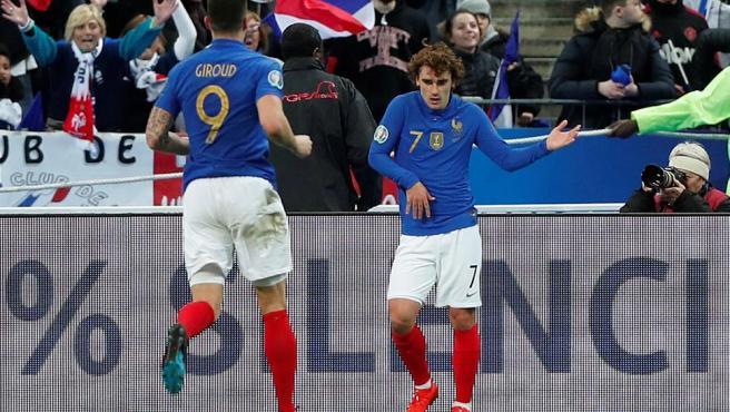 Giroud y Griezmann