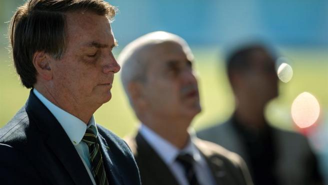 El presidente de Brasil, Jair Bolsonaro, en el Palacio de la Alvorada, en Brasilia.