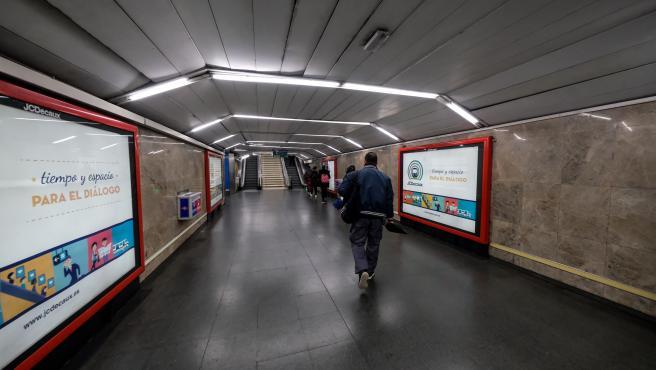 Imagen de recurso de instalaciones de Metro de Madrid durante el estado de alarma por el coronavirus.