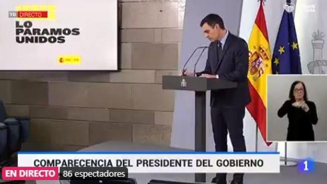 Pedro Sánchez, en rueda de prensa este sábado 4 de abril.