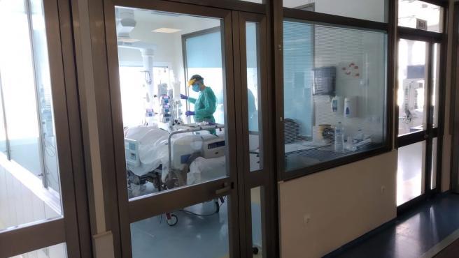Imagen de la UCI de un hospital