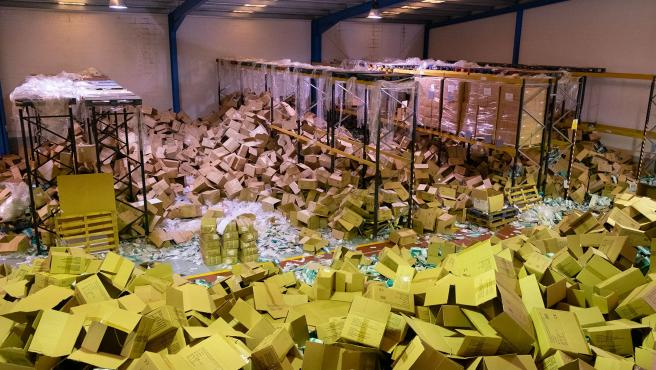 11,00 h.- O vicepresidente da Xunta, Alfonso Rueda, visitará a nave da empresa onde se produciu un roubo de material sanitario. No Polígono do Tambre. foto xoán crespo 06/04/2020